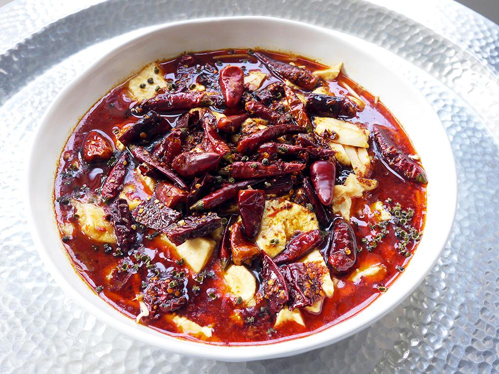 Water boiled fish with tofu shui zhu yu the mala for Boiled fish recipe