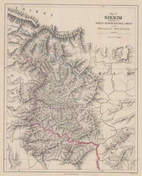 "Weller: Great Kinchinjunga Group. 1876. An original antique steel engraving. 13"" x 16"". [IC1534]"