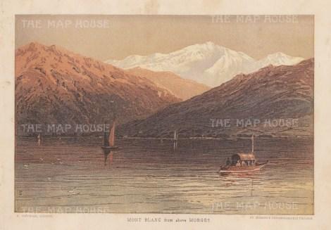 "Munning: Mount Blanc. 1875. An original antique chromolithograph. 8"" x 6"". [SWIp784]"