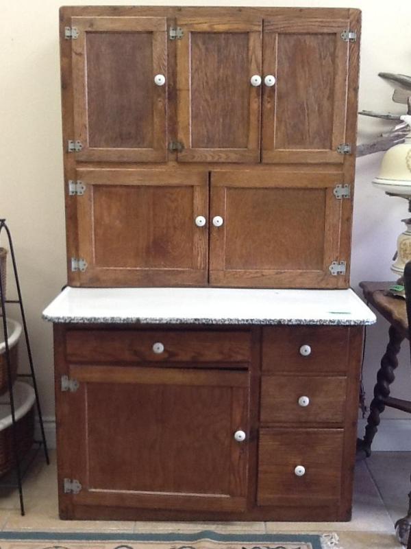 Oak Hoosier Cabinet Antique Oak Hoosier Cabinet 43″ x 27″ x 69″ Location: Aurora $816.80