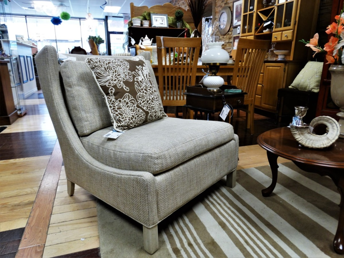 HIGH VS. LOW ACCENT CHAIRS ON CONSIGNMENT