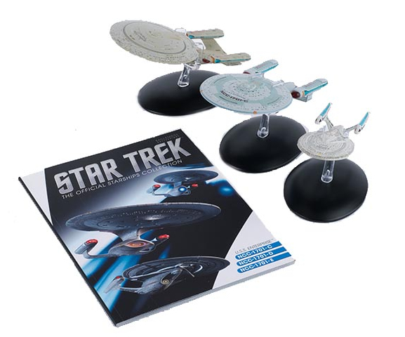 Eaglemoss Star Trek The Official Starships Collection Enterprise C-E three pack models
