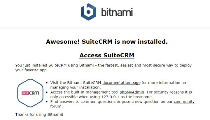 How Suite It Is – SuiteCRM and Bitnami – The NetworkNerd Blog