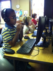 K students are introduced to the SuccessMaker software they'll use daily in the elementary program.