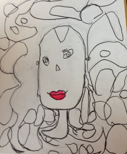 Self-portrait, 5-year-old girl