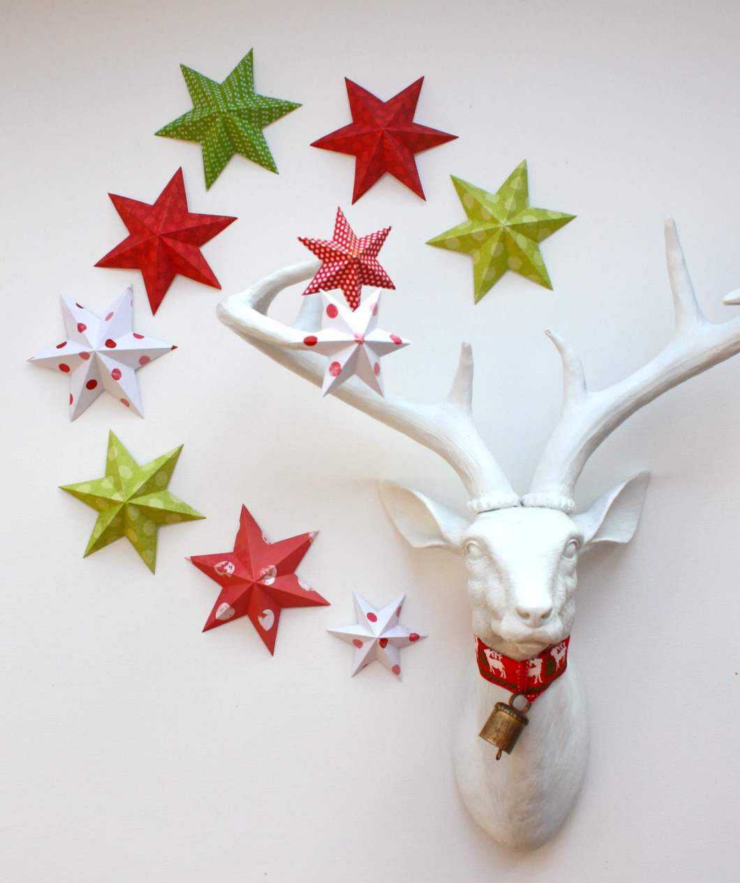 Paper Wall Stars Christmas Decorations