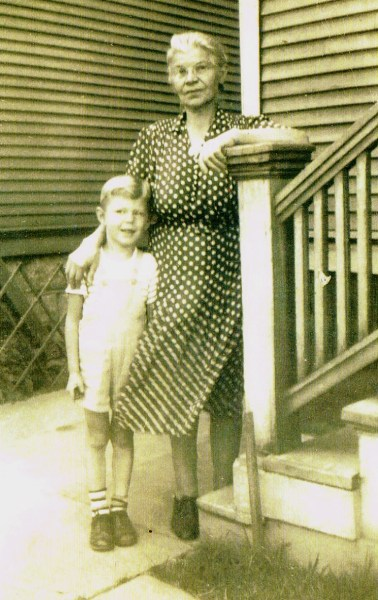 Fred and his grandmother Margaret circa 1945.