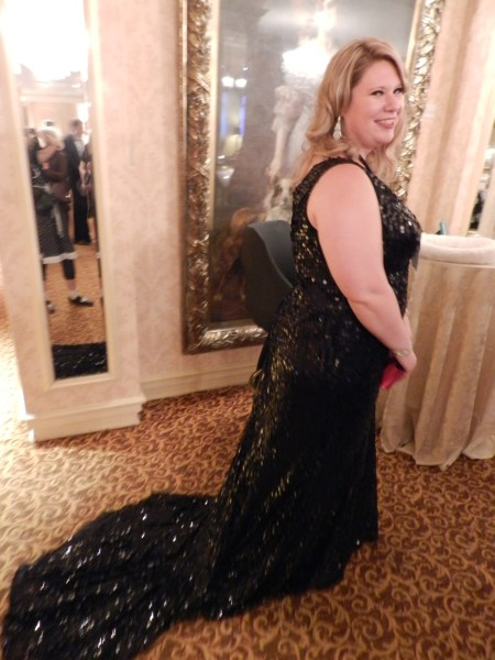 This woman's dress epitomized the evening's theme.
