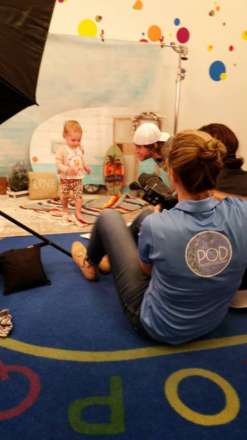 Behind-The-Scenes-Kidville-Brentwood-Photographer-Photo-Booth-Summer-Bohemian-Set-Baby