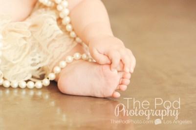 Baby-Toes-Details-Shots-Hands-Feet-Pearls-Lace-Studio-Portriats-Playa-Vista