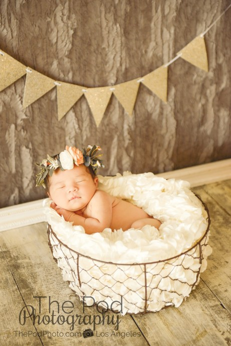 bohemian-baby-floral-crown-gold-styling-neutral-color-girly