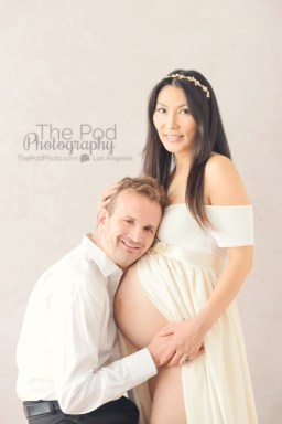 white-maternity-gown