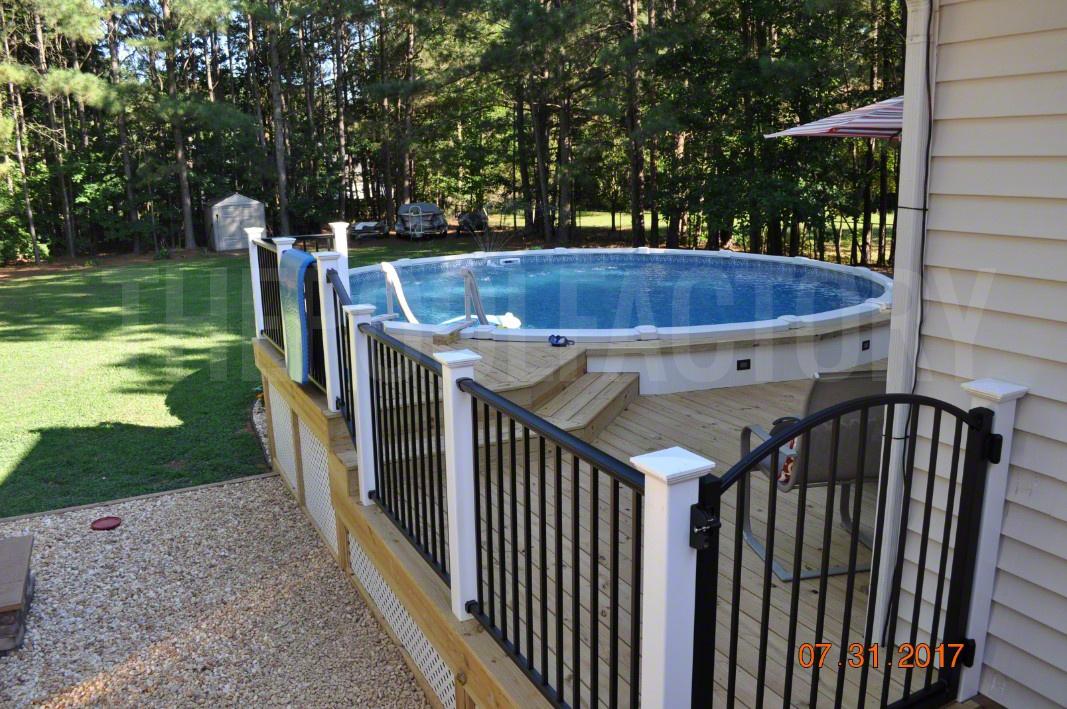 pool deck ideas partial deck the