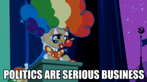 114156__safe_image-macro_glasses_mayor-mare_nightmare-night_politics_clown_rainbow-wig