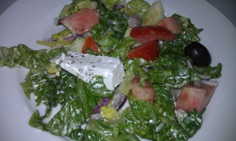 Greek salad. Feta! Yum!
