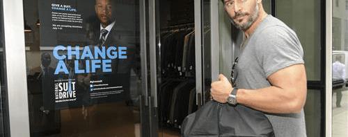Give a suit. Change a life. Lend a hand. Men's Wearhouse 2014 National Suit Drive.