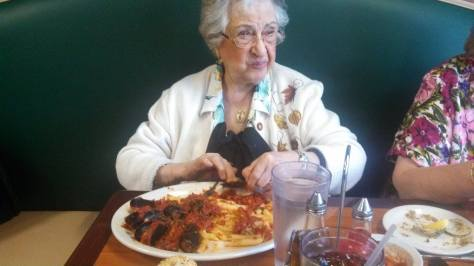 Even in her 90's my Grandma could eat with the best of them! Taken Oct 2013.