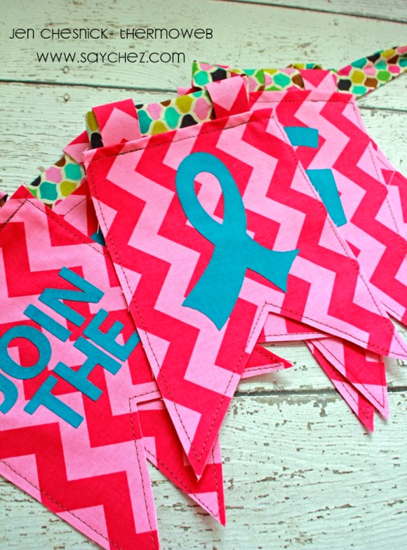 Jen Chesnick- Hope Banner- Thermoweb- Details