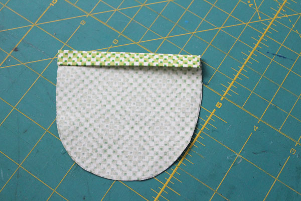 fold over top of pocket