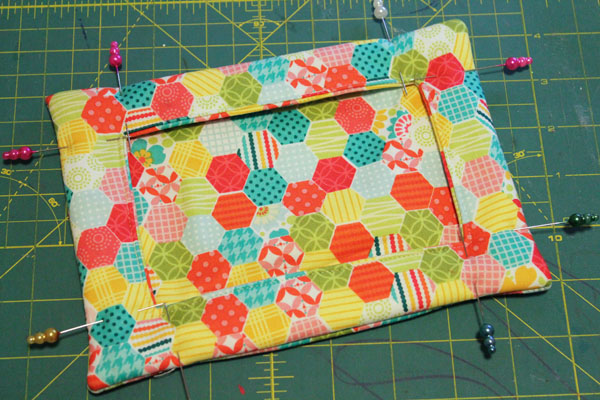 pin in place and quilt edges