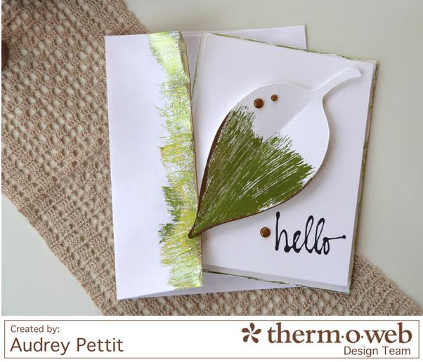 AudreyPettit Thermoweb Deco Foil Hello Card