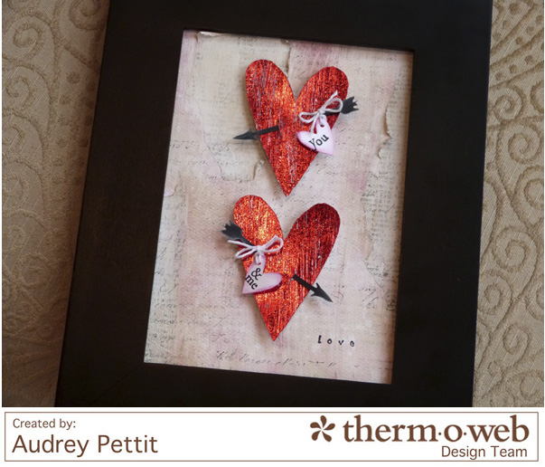 AudreyPettit Thermoweb DecoFoil LoveFrame4