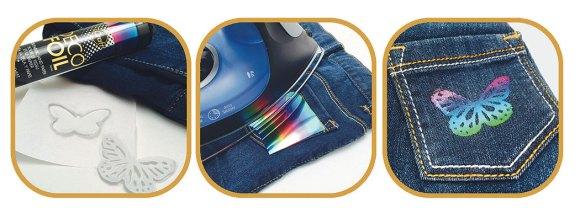 iCraft Deco Foils Iron On Transfer Adhesive Fabrics