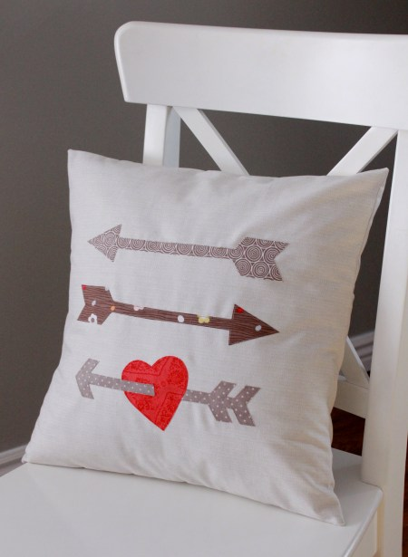 Heart and Arrow pillow