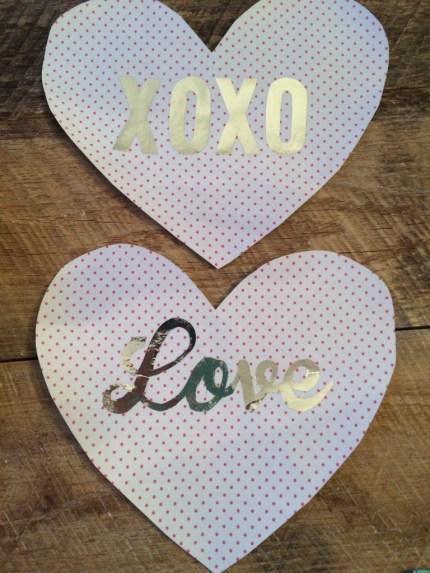 deco foil heart valentine