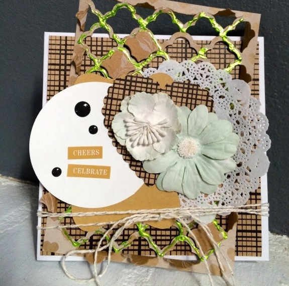 iCraft Deco Foil Quilt Inspired Card
