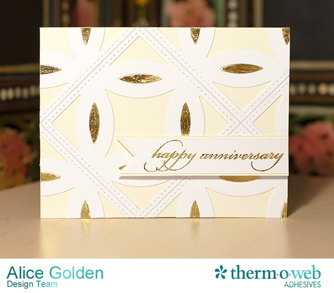 iCraft Deco Foil Gold Anniversary Card