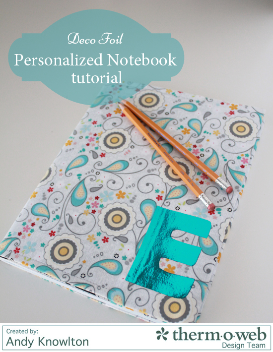 Personalized Notebook with Foil letter main
