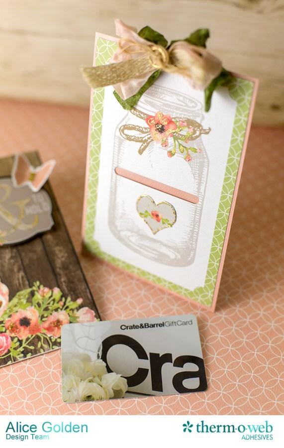 Alice Golden DecoFoil Rustic Elegance Wedding Gift Card Holder 8