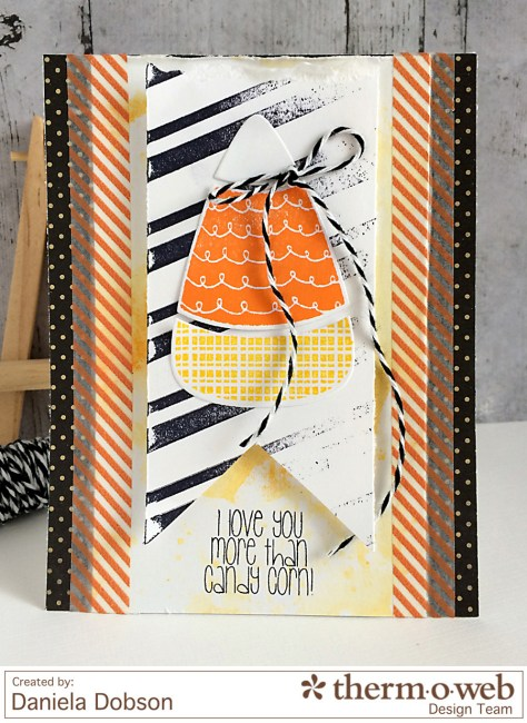 Candy Corn card by Daniela Dobson