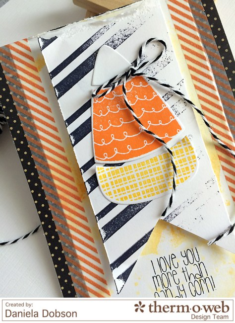 Candy Corn card close by Daniela Dobson