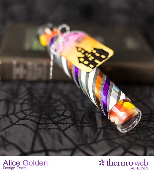 Alice Golden TOW DecoFoil Upcycle Halloween Treat Containers 8