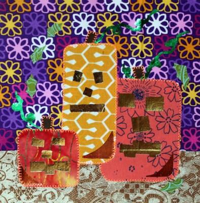 Jack-O-foil pumpkin block