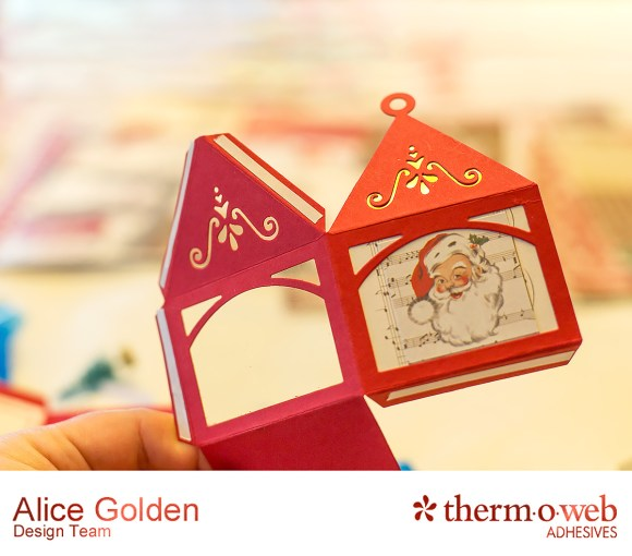 Alice Golden TOW Foiled Christmas Card and Ornament 4
