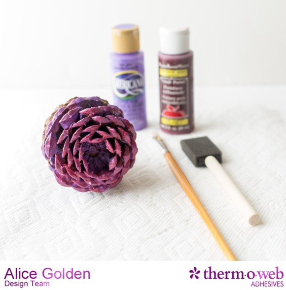 Alice Golden TOW Glitter Dust Pine Cone Flowers 2