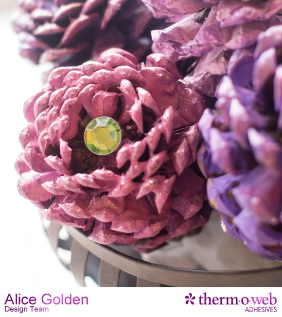 Alice Golden TOW Glitter Dust Pine Cone Flowers 6