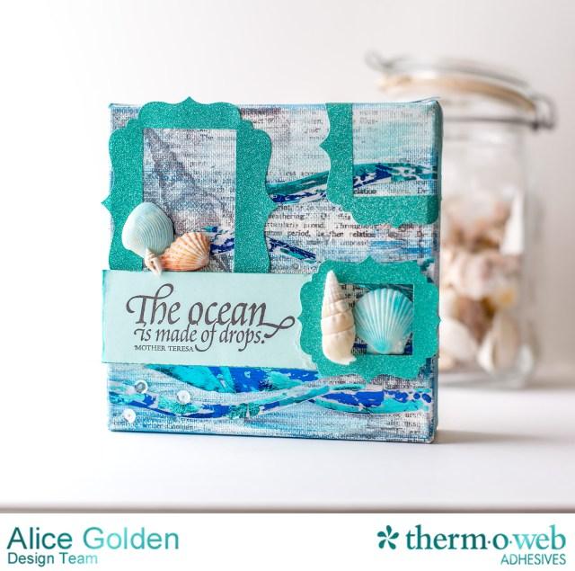TOW Ocean Mixed Media Canvas Alice Golden 1