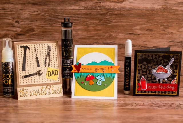 Fathers Day Cards made with Deco Foil by Rebecca Keppel