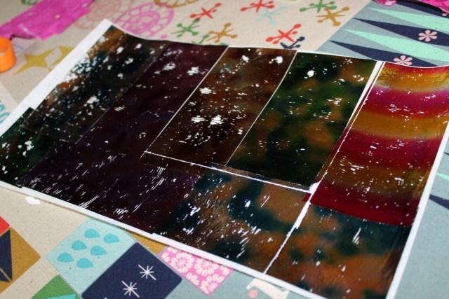 water color decofoil sheets