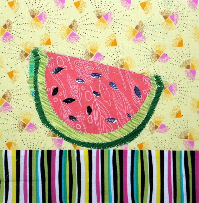 Foiled Watermelon Block