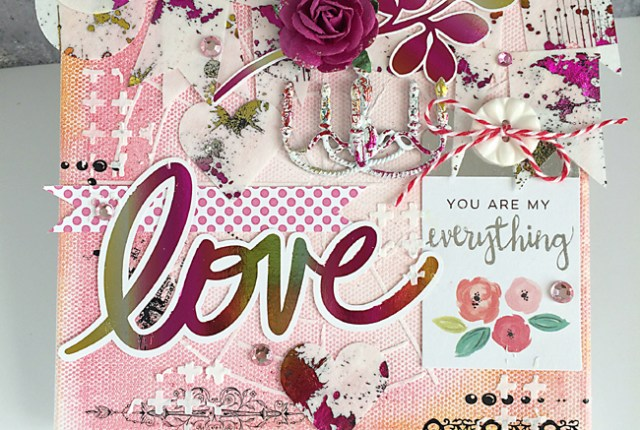 Love Mixed Media Canvas Daniela Dobson Designer