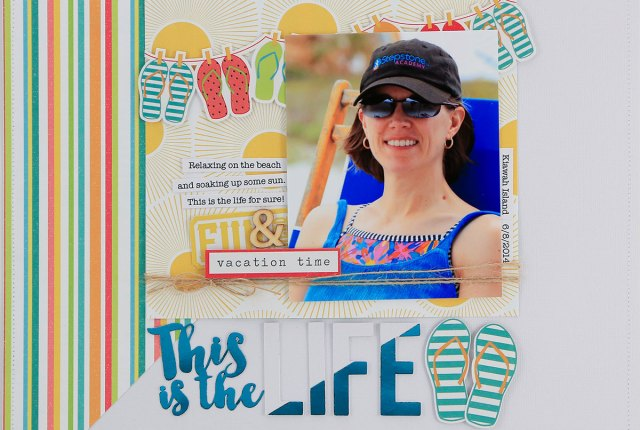 This Is The Life Beach Summer Vacation Scrapbook by Juliana Michaels featuring Therm O Web Deco Foil and Peel N Stick Toner Sheets