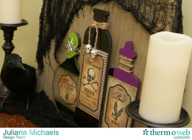 Halloween Wood Plank Home Decor by Juliana Michaels featuring Therm O Web Deco Foil and Adhesives