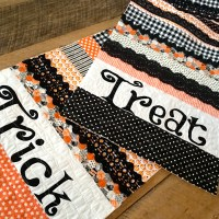Sew a Fun Trick or Treat Scrappy Table Runner