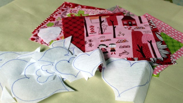 hearts and fabric