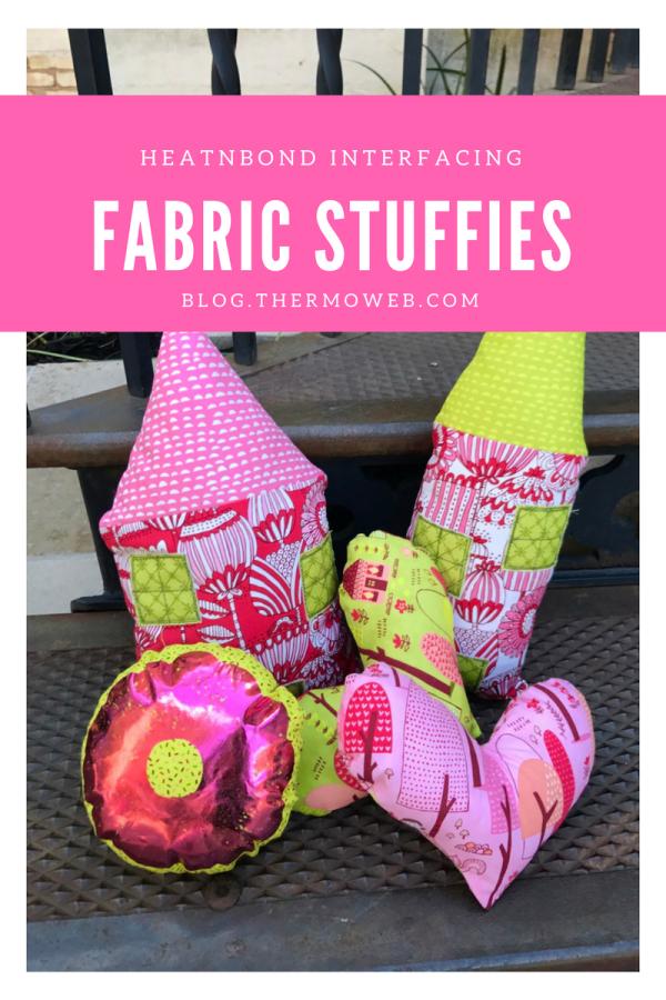 Fabric Stuffies made with HeatnBond Interfacing